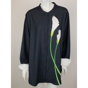 New Victoria Beckham Calla Lily Blouse 2x Target
